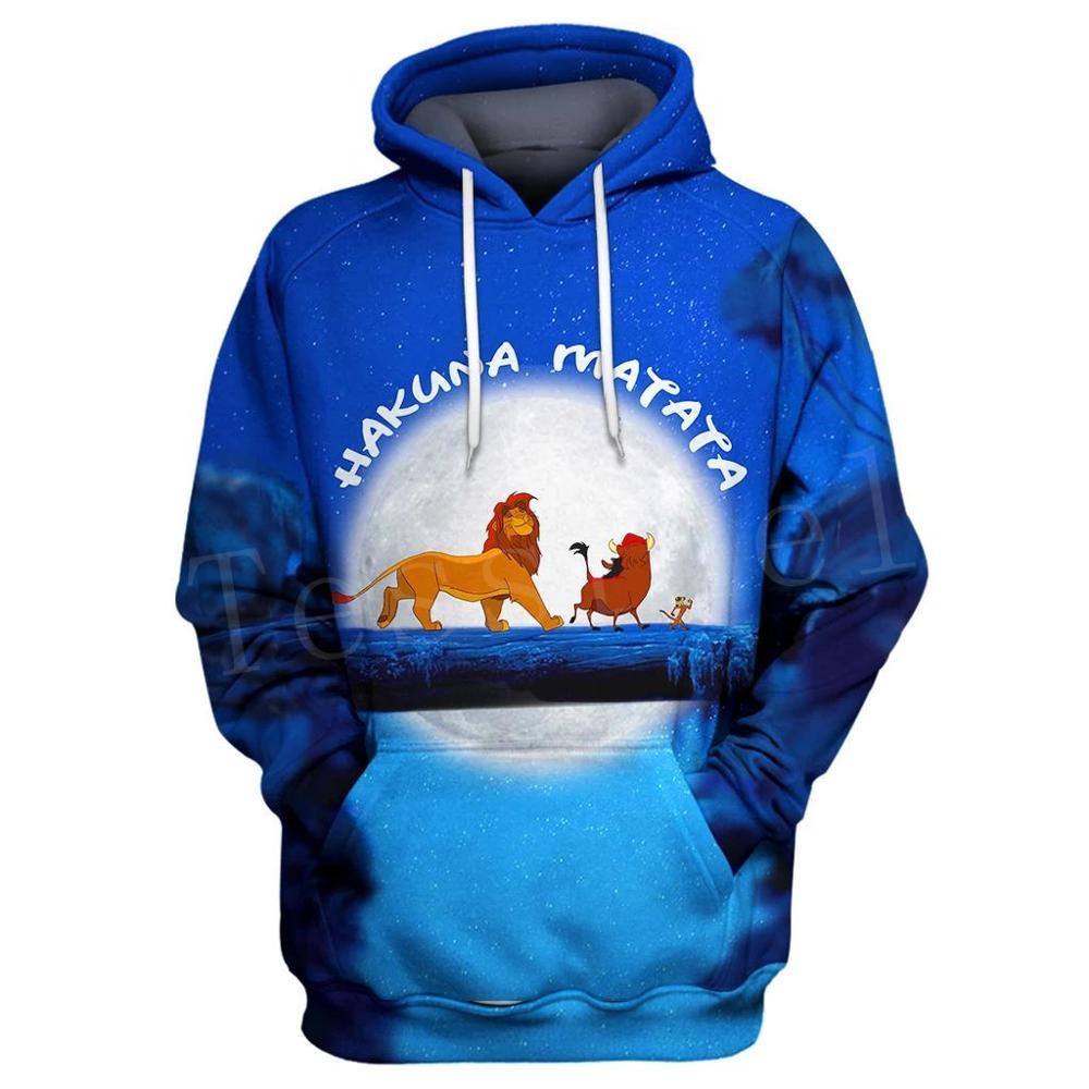 Tessffel NewFashion Hot Anime Movie Cartoon Simba Lion King Tracksuit Mens Womens 3Dprint Sweatshirts/Hoodies/Zipper/jacket S-2
