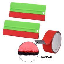 EHDIS 2PCS Vinyl Car Wrap Soft Scraper With 1M Fabric Felt Cloth Carbon Foil Film Install Squeegee Window Tinting Remover Tools