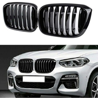 Performance Style Kidney Grille for BMW X3 G01 X4 G02 2018 2019 2020 Front Hood Grill Insert Replacement(Glossy Black)