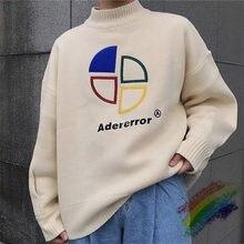 2020FW suelto Adererror hombres suéter mujer 1:1 alta calidad Onesize cuello redondo Vintage Ader Error suéter