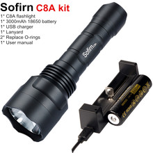 Sofirn C8A Tactical LED Flashlight 18650 Cree XPL2 Powerful 1750lm Flash light High Power Torch Light with Battery Charger