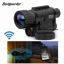 Bestguarder WG 50 プラスナイトビジョン望遠鏡 Wifi 機能 IR 単眼野生生物 6 × 50 ミリメートル狩猟赤外線 850NM HD カメラ