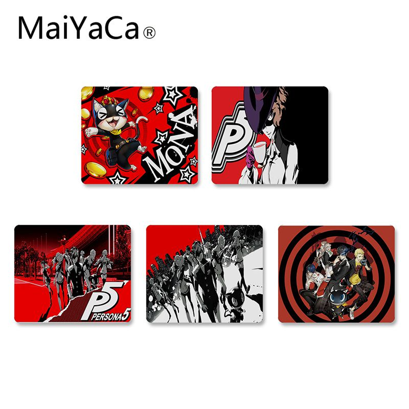 MaiYaCa Persona 5 video game Durable Rubber Mouse Mat Pad Gaming mouse pad Anti-Slip Laptop PC Mice Pad Mat Mouse pads image