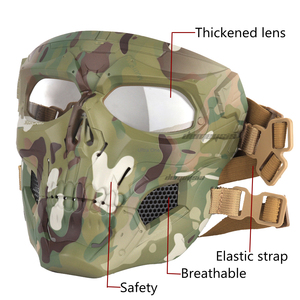 Image 3 - Multicam Tactical Airsoft Skull Mask Paintball Military Combat Full Face Paintball Masks CS Game Face Protective Tactical Mask