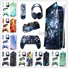 Full Set Skin Decal Regular Edition Sticker Cover for PS5 Controller & Charging Station & Headset & Media Remote#20-37