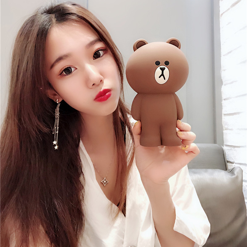Cute Cartoon Bear Women Coin Purse Soft Silicone Key Pouch Female Mini Money Bag Girls Purse Small Box For Airpods Cases