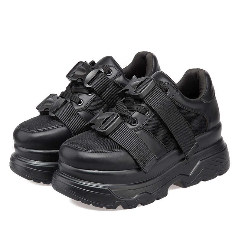 Phụ Nữ Của Nền Tảng Chun Giày Sneakers Thời Trang 2020 Lưới Kéo Khóa Nữ Đáy Dày Giày Của Người Phụ Nữ Vulcanize Thể Thao Giày Nữ