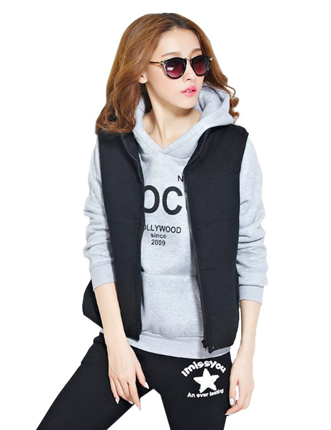 5335 # AliExpress Hot Selling COCO Printed Letter Sports Hoodie Suit Hooded Sweater Three-piece Set