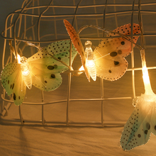 10LED Butterfly LED String Lights Waterproof Christmas Tree Indoor Decor Halloween Valentines Day Romantic Atmosphere