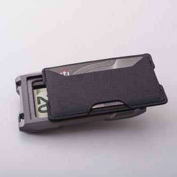 2021 New Fashion RFID Metal Cardholder Wallet Men Business Badge Credit Card Holder Small Aviator Minimalist Wallet for Card Man 1