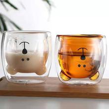 Nowa podwójna ścianka kubek do kawy wysokiej jakości szkło borokrzemowe kubek na zimne napoje kubek do gorącego napoju odporny na wysoką temperaturę kubek herbaty rano mleka szklanka do soku tanie tanio Kufle piwa ROUND NQ00307 Ce ue Ekologiczne Zaopatrzony -20 ° C - 150 ° C 270ml