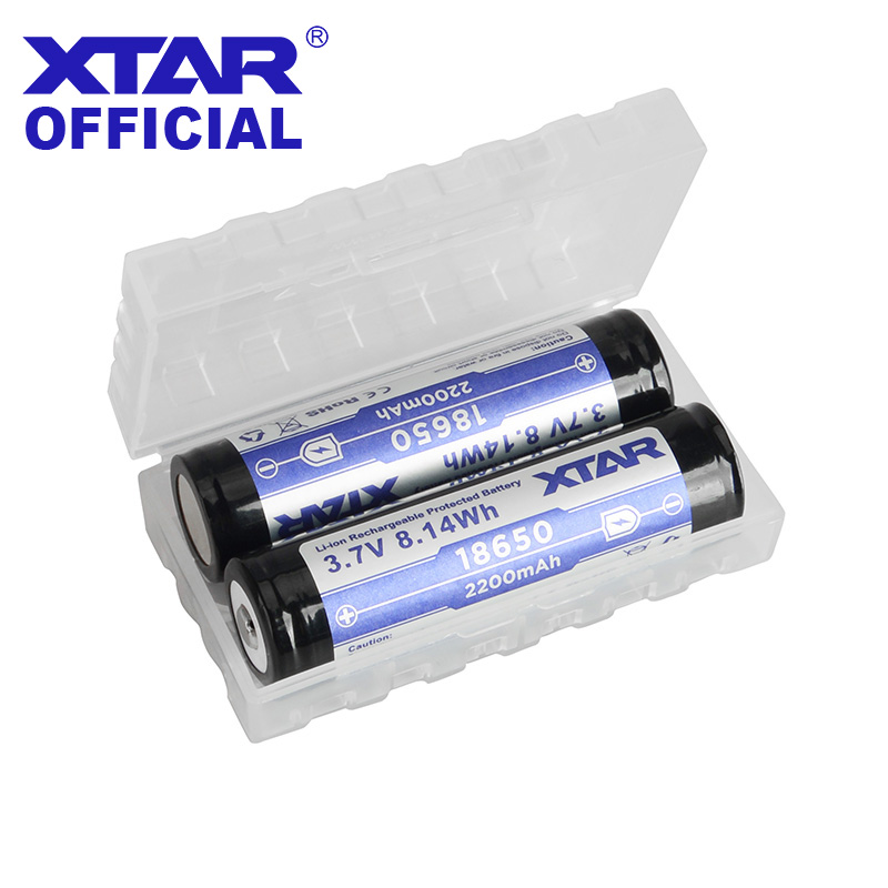 XTAR Plastic Battery Case Holder Storage Box For 18350 16340 18650 Battery Container Bag Case Organizer Battery Storage Box