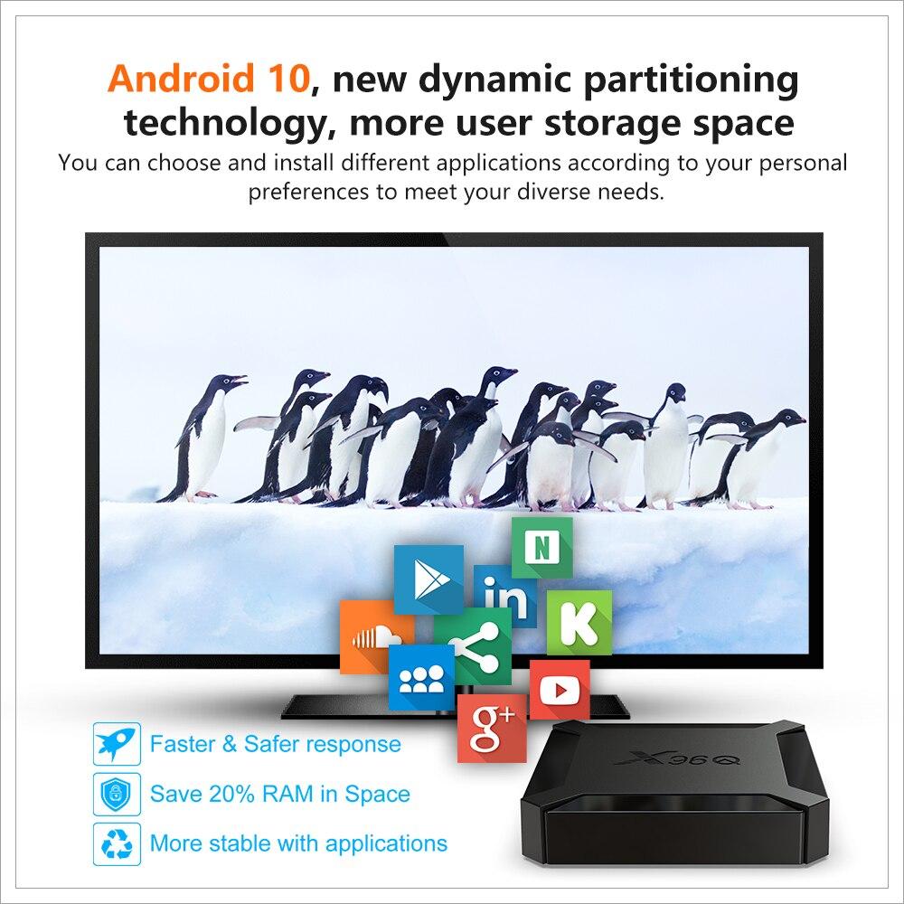 Smart TV Box Android 10 4K WiFi 2GB 16GB Unterstützung IPTV Franch/Spanien/Israel/italia/europa/polen Netflix Media Player Set-Top-Box