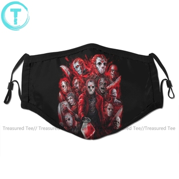 Jason Voorhees Mouth Face Mask Jason Voorhees Facial Mask Fashion Funny with 2 Filters for Adult men s jason voorhees friday the 13th printed pure men s hot mouth mask women s kid pm2 5