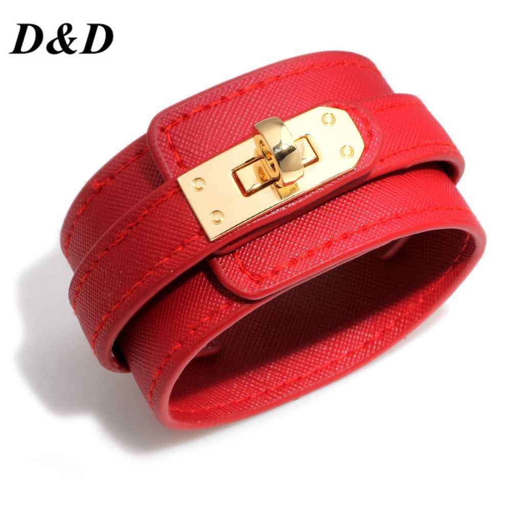 D&D Leather Bracelet Multi-layer Alloy Ms Bracelet Women's Retro Punk Casual Bracelet Jewelry Accessories