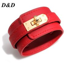 D&D Leather Bracelet Multi-layer Alloy Ms Womens Retro Punk Casual Jewelry Accessories