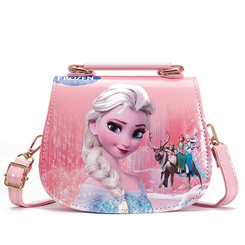 Disney Princess Children Pu Messenger Bag Girl Frozen Elsa Shoulder Bag Sofia Handbag Kid Fashion Shopping Bag Gift