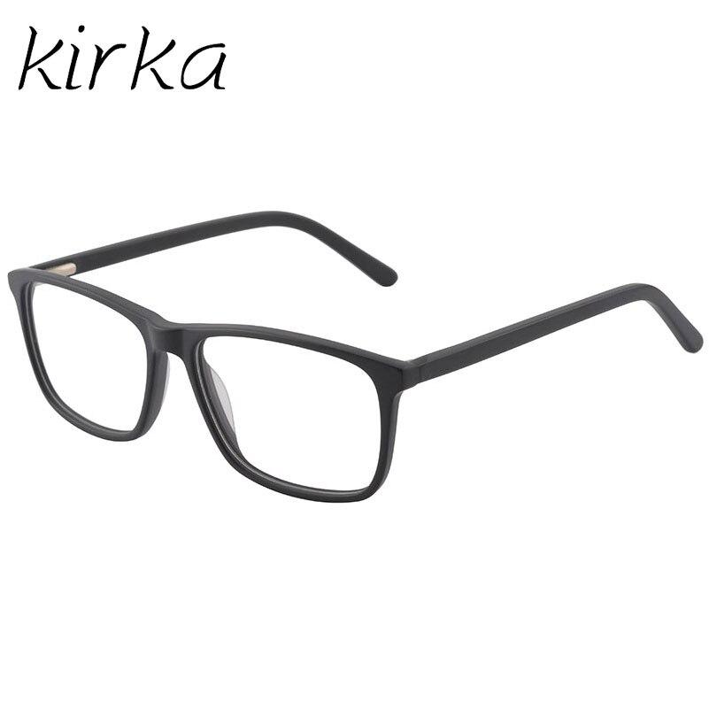 Black Glasses Men Acetate Eyewear Male Spectacle Frames Optical Clear Lenses Eyeglasses Frames Myopia Glasses Frames For Men