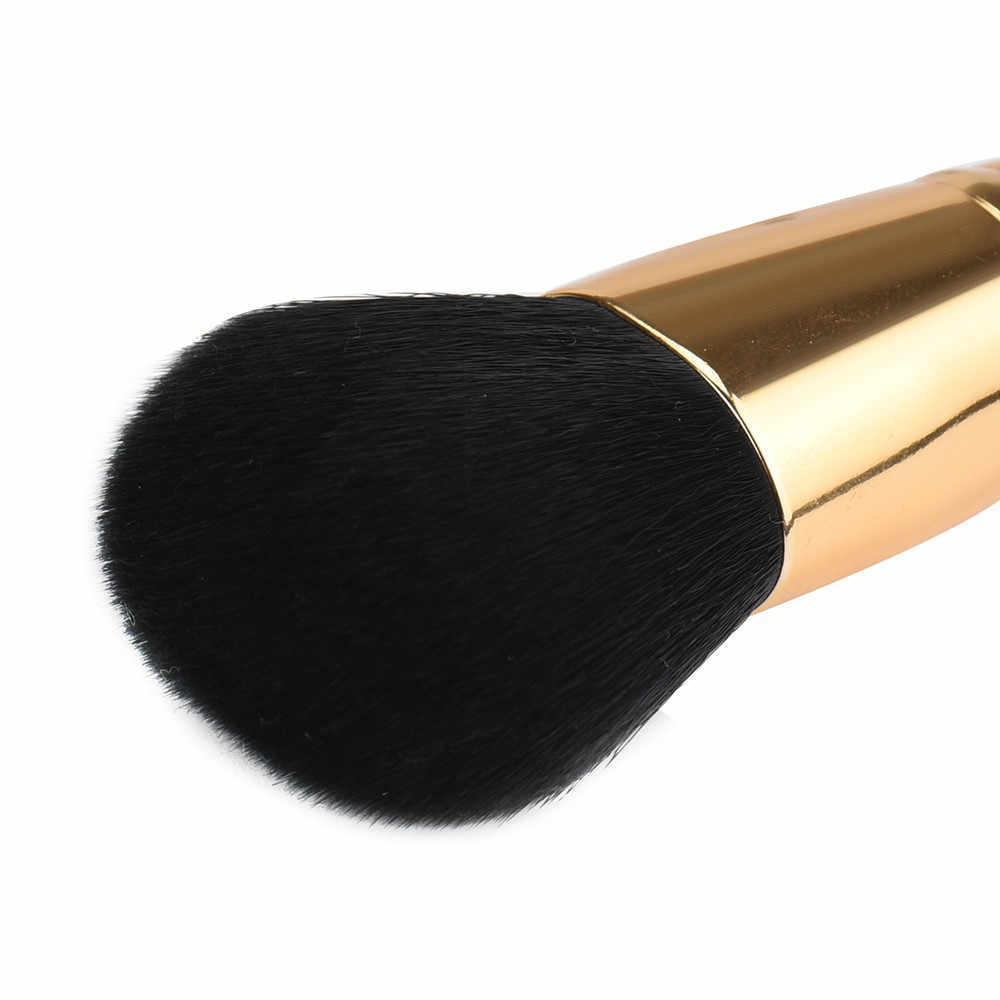 1 pçs unicórnio dourado escova de maquiagem grande pó solto escova de maquiagem grande blush rosto pó fundação escova de cosméticos