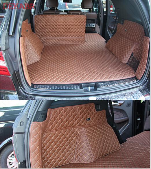 (Car Travel) Best quality Special trunk mats for Mercedes Benz <font><b>ML</b></font> <font><b>350</b></font> <font><b>W166</b></font> 2020-2010 waterproof boot carpets for ML350 2014 image