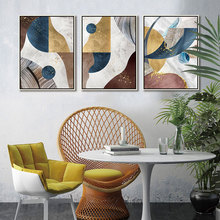 Drop Shipping 3 piece Canvas Painting Wall Art Abstract Color stitching Geometric pattern Poster Print Picture Living Room Decor printed abstract graphics psychedelic nebula space painting canvas print decor print poster picture canvas free shipping ny 5746