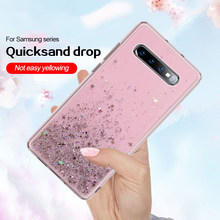 ซิลิโคน Bling Glitter Sequins กรณีโทรศัพท์สำหรับ Samsung Galaxy A6 A8 J6 2018 S8 S9 Plus S7 Edge A3 A5 a7 J3 J5 J7 2017 Quicksand(China)