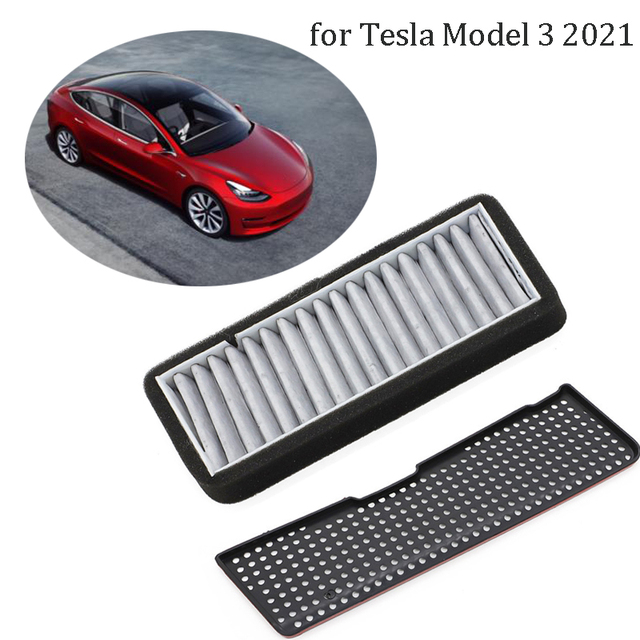 For Tesla Model 3 2021 Car Air Flow Vent Cover Inlet filter cover Air Conditioning Air Inlet Protective Cover Auto Air Filter