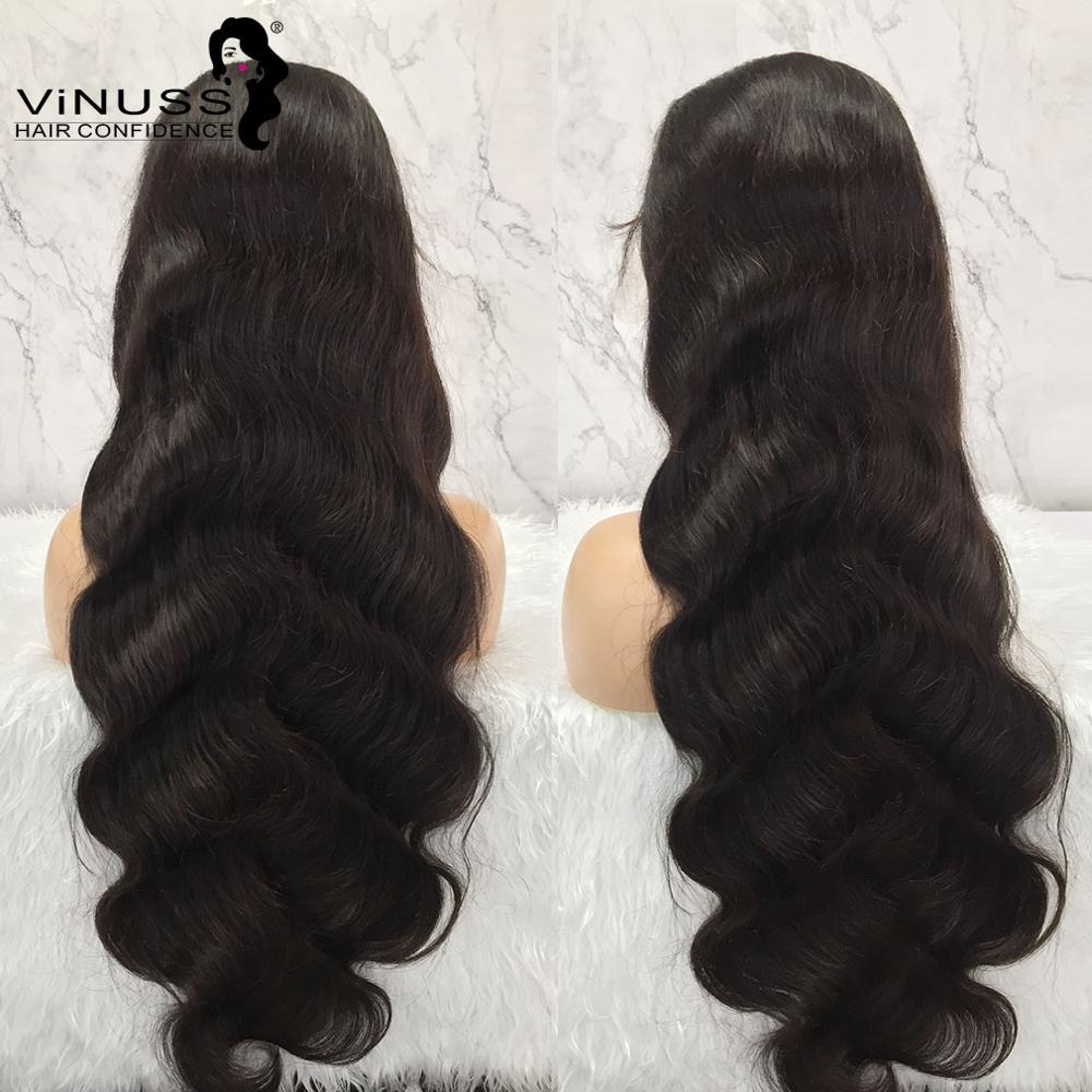 30 Inch Body Wave 13x6 Lace Front Human Hair Wigs Brazilian Human Hair Wigs Glueless Bleached Knots Pre Plucked For Black Women