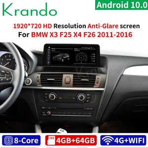 Krando Android 10.0 10.25'' 4G 64G Car Radio Multimedia GPS For BMW X3 F25 / X4 F26 2011-2016 NBT CIC Audio Player Navi WIFI