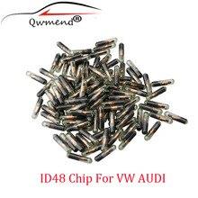 30 pces * carro remoto chave transponder chip id48 vidro para vw volkswagen skoda seat audi (novo/em branco/não codificado)