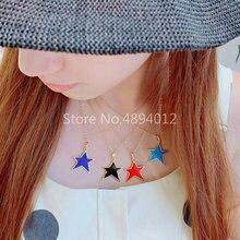 Women Pendant Necklace,10pcs or 20pcs,Fashion Jewelry, Pop Charms, Star Design, 4 Colrs, Can Wholesale,