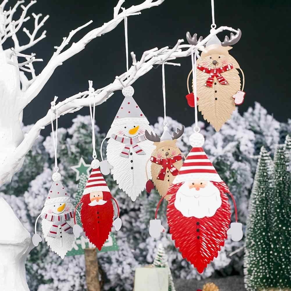 2020 Lucu Natal Besi Daun Liontin Bentuk Daun Tahun Baru Hadiah Xmas Pohon Gantung Ornamen Untuk Natal Pesta Dekorasi Rumah Aliexpress
