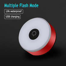 Mini Bicycle Tail Light Bike Rear Taillight USB Rechargeable Flashlight Safety Warning Lights Cycling Accessory Red Color