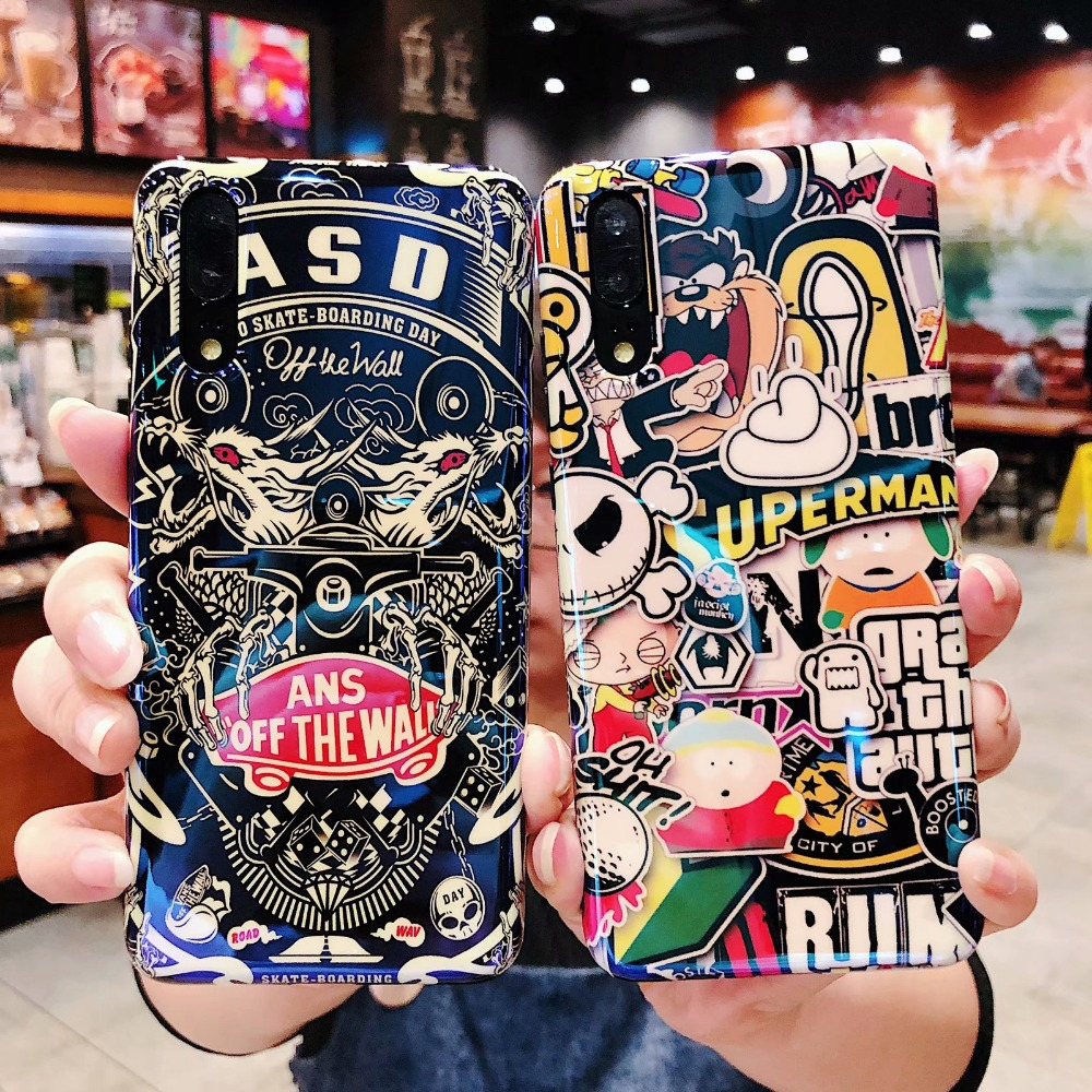 Cartoon Case For Xiaomi Mi 10 CC9 A3 9 Pro Lite 9 SE 9SE Case Blue Light Soft Back Cover For Xiaomi Mi10 Protective Shell Case