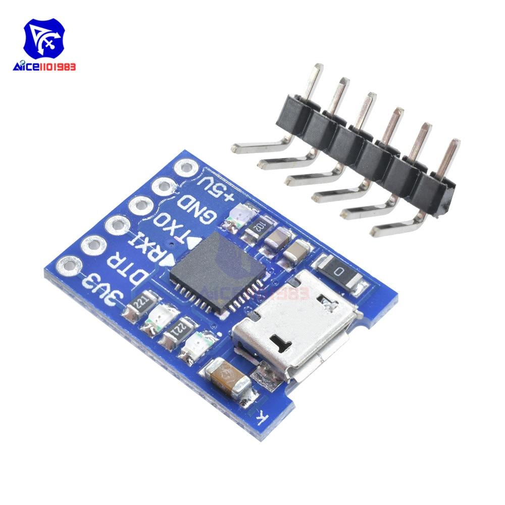 1pcs USB 2.0 to TTL UART 6PIN Module Serial Converter CP2102 STC PRGMR Cable HM