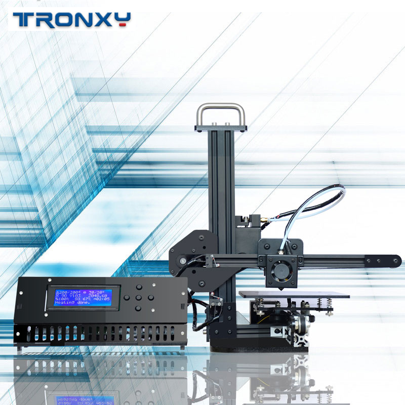 Tronxy 3D Printer X1 Pulley Linear Guide Support SD Card Printing LCD Display High Precision 0.1-0.4mm Off-line imprimante 3d