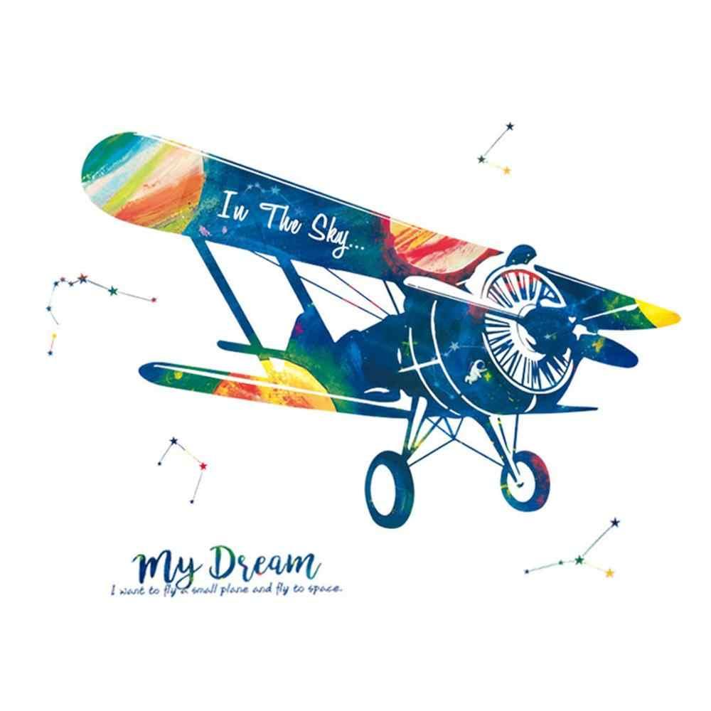Креативная Наклейка на стену с изображением самолёта декор для детских комнат гостиной диван фон детская комната наклейки на стену самоклеющиеся CD