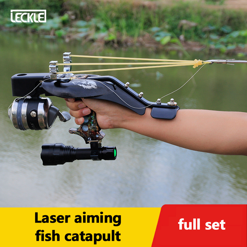 Stainless Steel Fishing Slingshot Set With Laser Infrared Targeting For Outdoor Hunting Shooting Can Using Steel Balls And Arrow