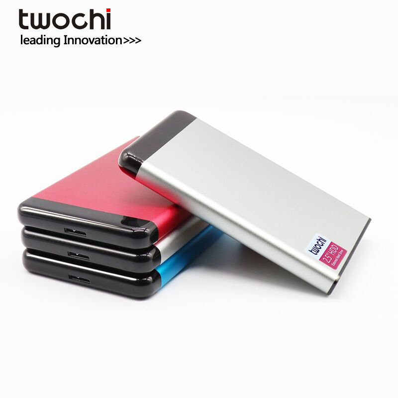 TWOCHI USB3.0 External Hard Disk Drive 1TB 500G Disco Duro Externo 320GB HDD Original Storage Device Cute Usb Flash Drive 120GB
