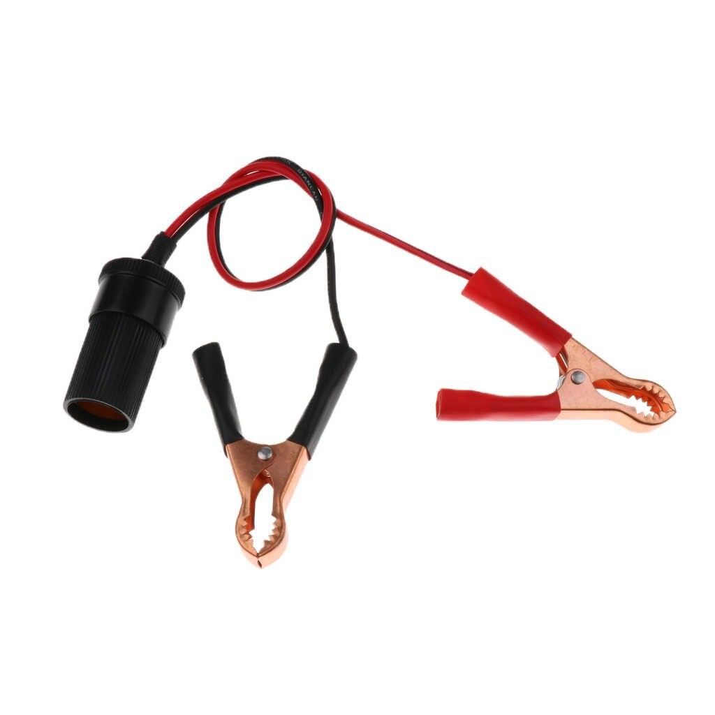 1 個 50A 12V DC ワニ口クリップ電源ケーブルに車の電源ソケット電化製品のための車のボートキャラバンなど