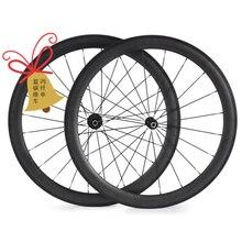 무료 배송 탄소 바퀴 도로 Clincher 관형 50mm 자전거 바퀴 탄소 wheelset 700c 탄소 도로 자전거 바퀴 23mm 25mm 너비
