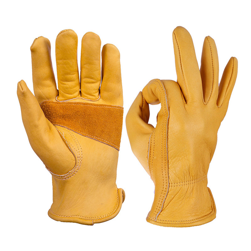Cycling Leather <font><b>Gloves</b></font> Yellow Full Finger Men <font><b>Motorcycle</b></font> <font><b>Gloves</b></font> <font><b>Retro</b></font> Cross-border Warm Winter Moto <font><b>Gloves</b></font> image