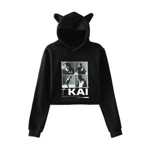 Kpop новая команда super M Taemin BAEK HYUN KAI Taeyong MARK LUCAS TEN модный топ с кошачьими ушками, женские толстовки, толстовка, сексуальная одежда