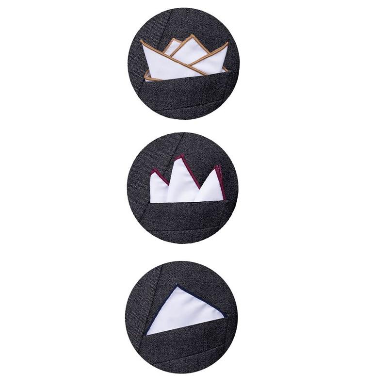 Hi-Tie Pocket Square Holder 5Pcs  Keeper Organizer For Men Prefolded Men Suit Handkerchiefs JZ-01