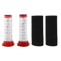 Waschbar Wichtigsten Stick Filter + Schaum Einsatz für Bosch Athlet Cordless Staubsauger (2 von Jeder)