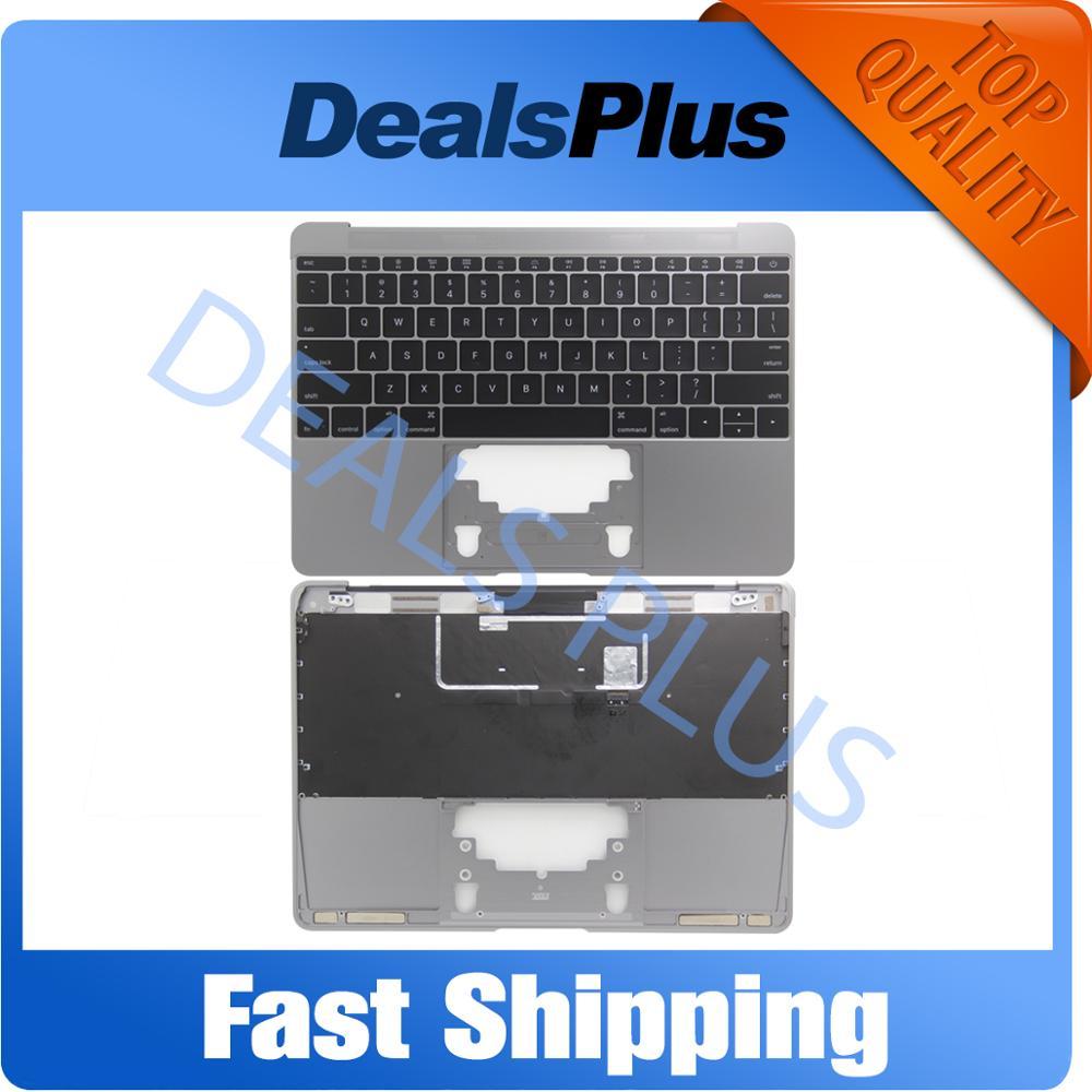 Nouveau or/gris/argent/or Rose USA Topcase repose-paume avec clavier pour Macbook 12