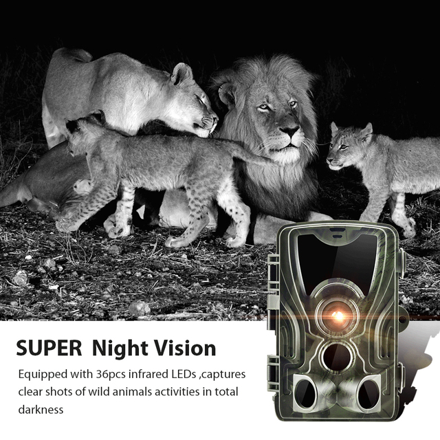 HC801A 20MP Hunting Trail Camera Wildlife Camera Night Vision Motion Activated Trail Camera Trigger Scouting Waterproof 6