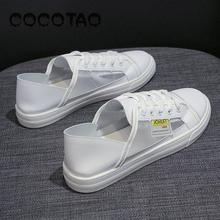 New Breathable Small White Shoes Female 2019 Summer Han Edition Single Net Yarn Students Western Style Sandals21