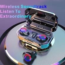 Nova ipx7 tws esporte à prova dtwágua sem fio fone de ouvido redução ruído música fones bluetooth 5.0 5d graves profundos 6h playtimes