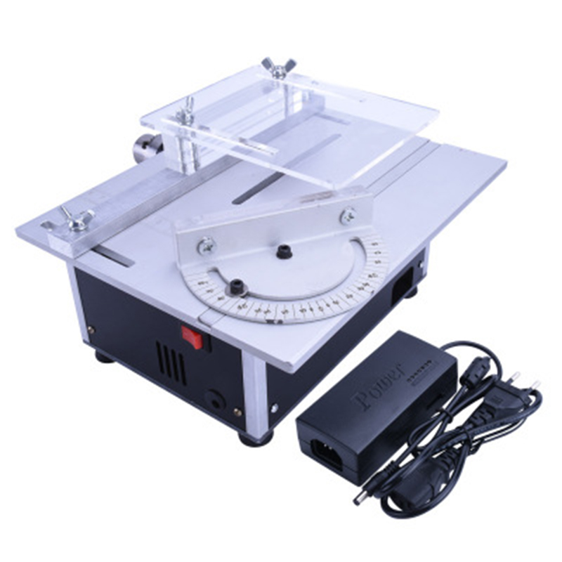 Mini Small Table Saw Multifunction Miniature Small Table Saw DIY Woodworking Chainsaw Small Cutting Sanding Polishing Table Saw